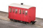 Peco GR-500UR  GVT 4-wheel enclosed side coach, plain red, OO-9